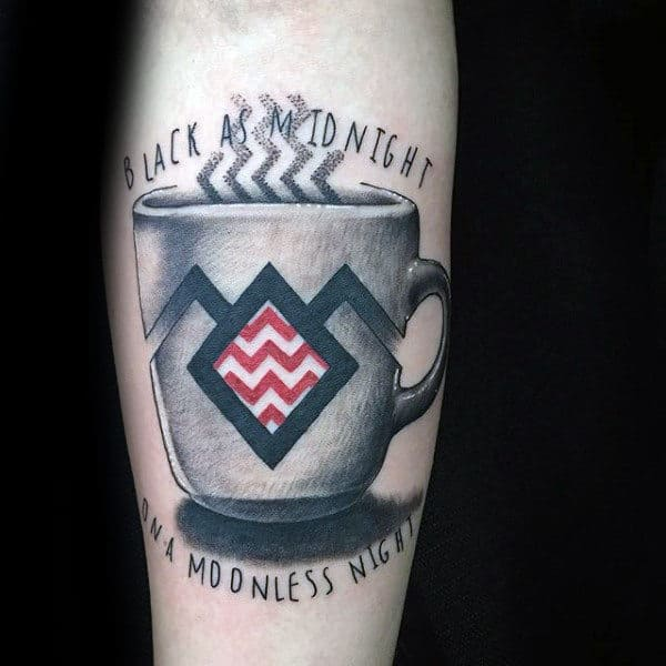 Black As Midnight On A Moonless Night Twin Peaks Guys Coffee Tattoo