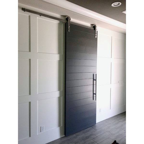 Black Barn Door Interior Ideas With White Walls