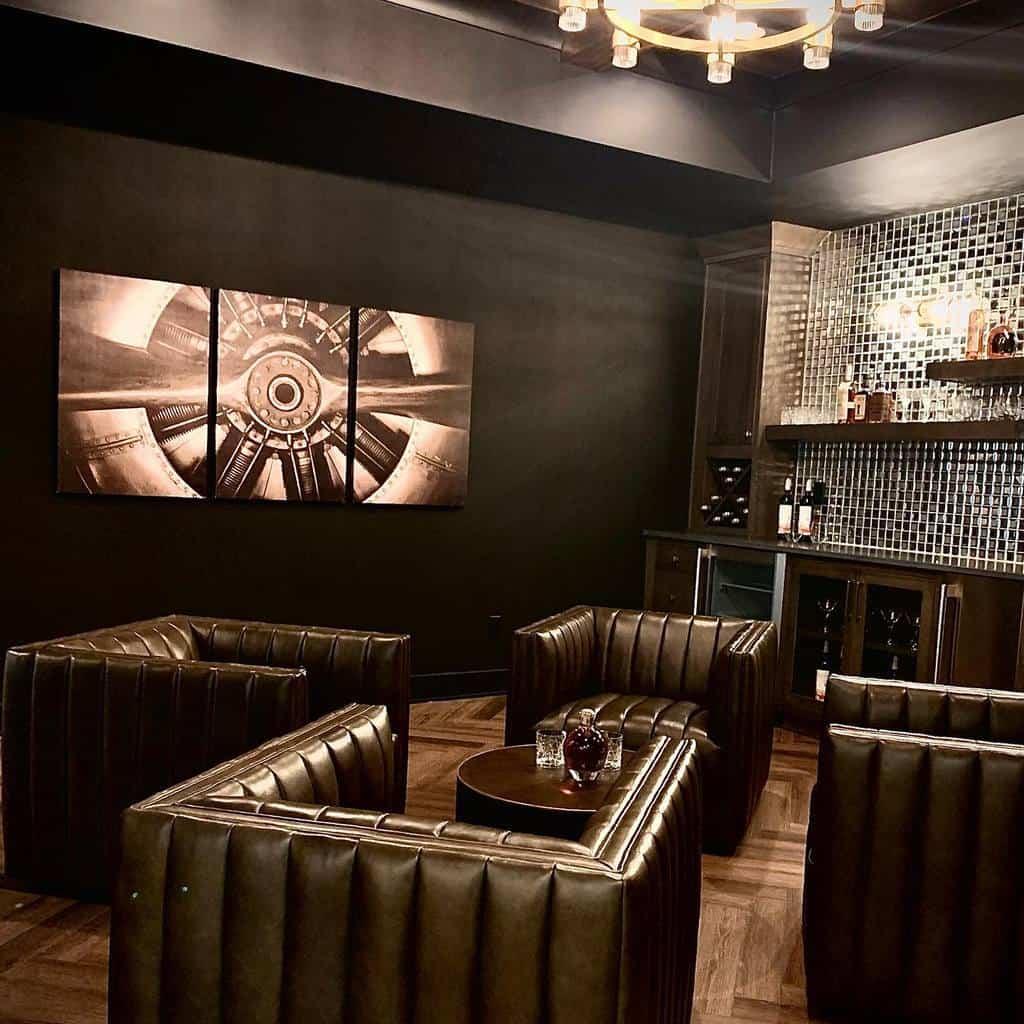 black basement wall ideas stephaniewiottdesign
