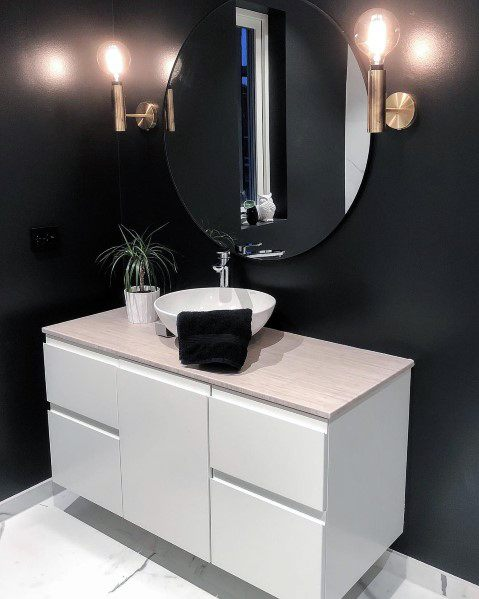 Black Bathroom Design Inspiration