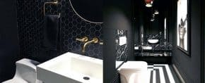 Top 60 Best Black Bathroom Ideas – Dark Interior Designs