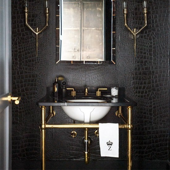 Black Bathroom Wall Ideas