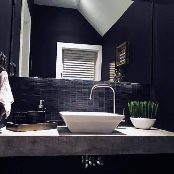 Black Bathrooms Half Bath
