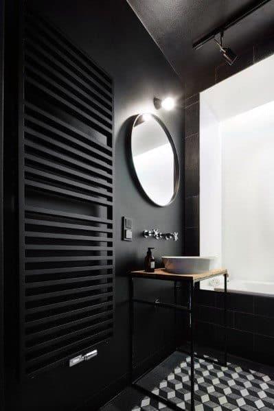 Black Bathrooms Interior Ideas