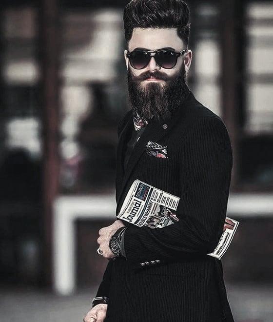 Black Beard Mens Classy Style Ideas