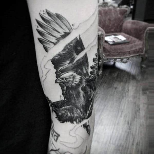 Black Bird Tattoo For Men