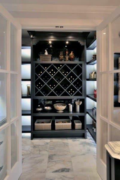 Black Cabinet Wine Cellar Ideas
