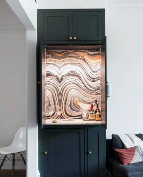 Black Cabinets Mini Bar Ideas