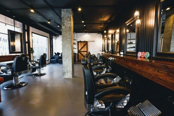 Black Ceiling Barber Shop Design Inspiration