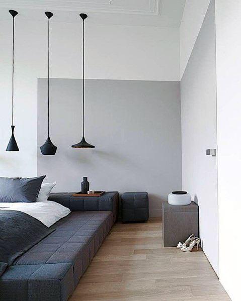 Black Ceiling Hanging Pendants Bedroom Lighting Idea Inspiration