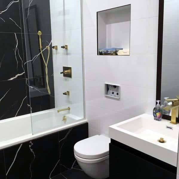 Black Color Themed Bathroom Ideas