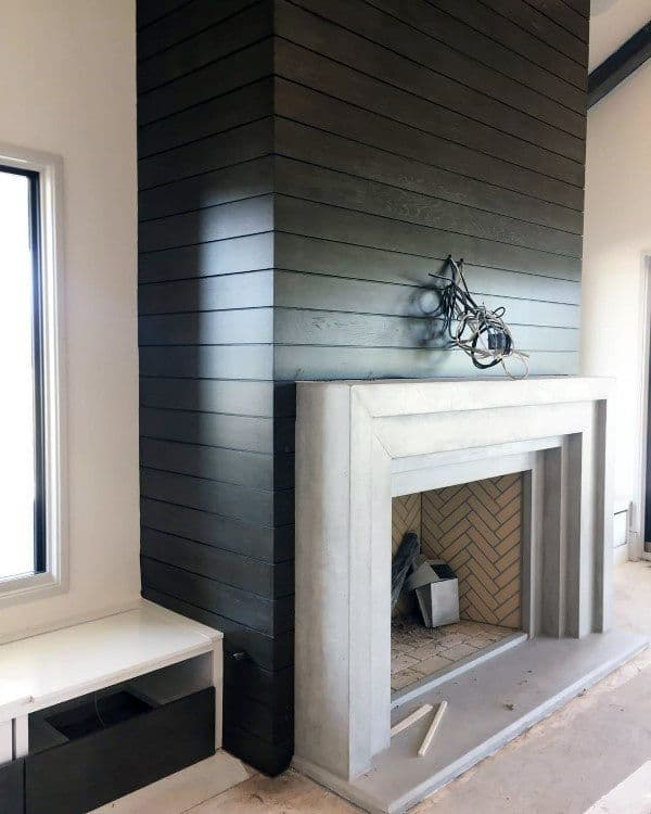 Cement Board Chimney : Top best concrete fireplace designs minimalistic