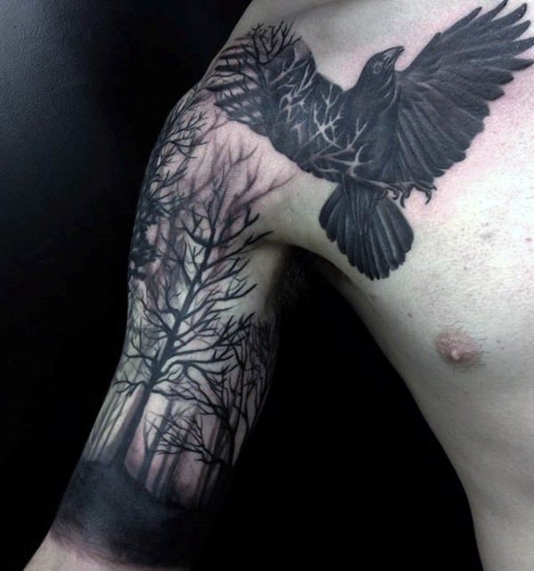 100 Forest Tattoo Designs For Men