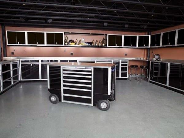 Black Custom Storage Garage Cabinet Ideas