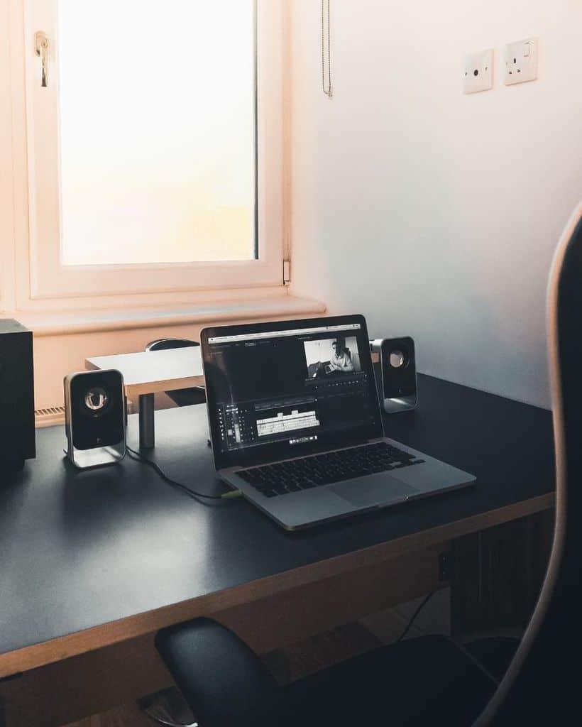 black desk setup ideas mikechudley