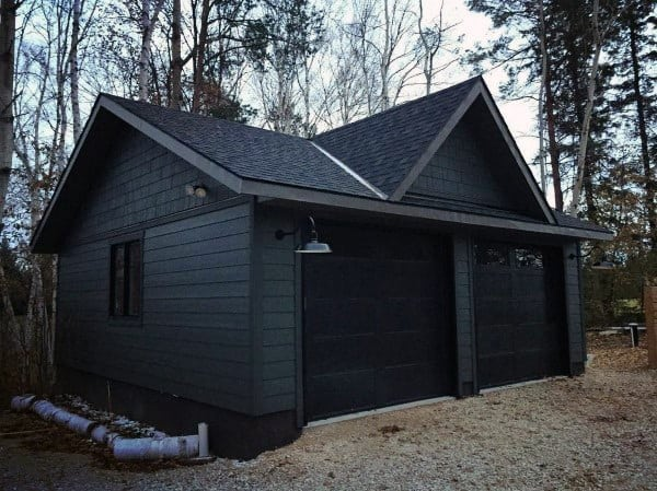 Black Detached Garage Ideas
