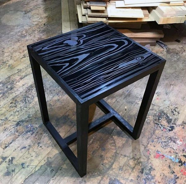 Black Diy Man Cave Ideas Side Table