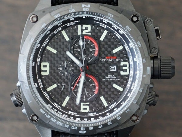 Black Dlc Coated Finish Mtm Special Ops Cobra Watch For Men