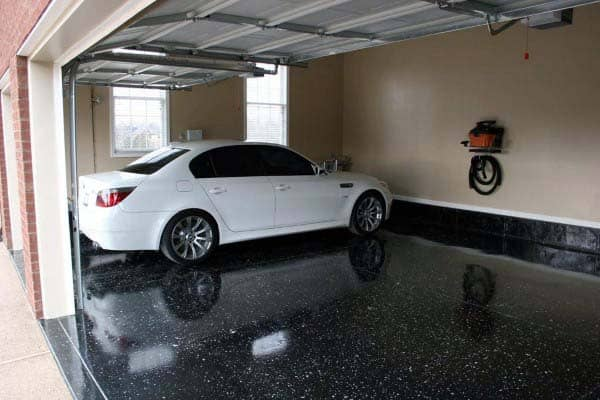 best diy epoxy garage floor black paint flooring ideas cost dallas home depot installation