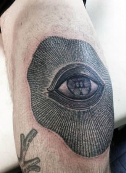 Black Eye Elbaw Tattoo For Men
