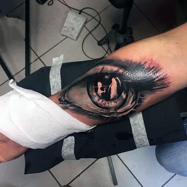 Black Eye Unique Tattoo Mens Forearms