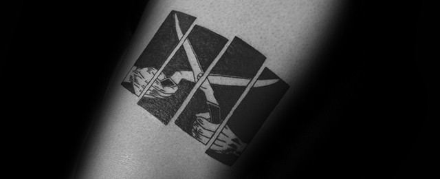2bf7d7045d28b 50 Black Flag Tattoo Designs For Men - Rock Band Ink Ideas