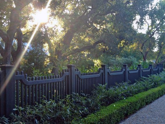 Black Front Yard Fence Home Designs