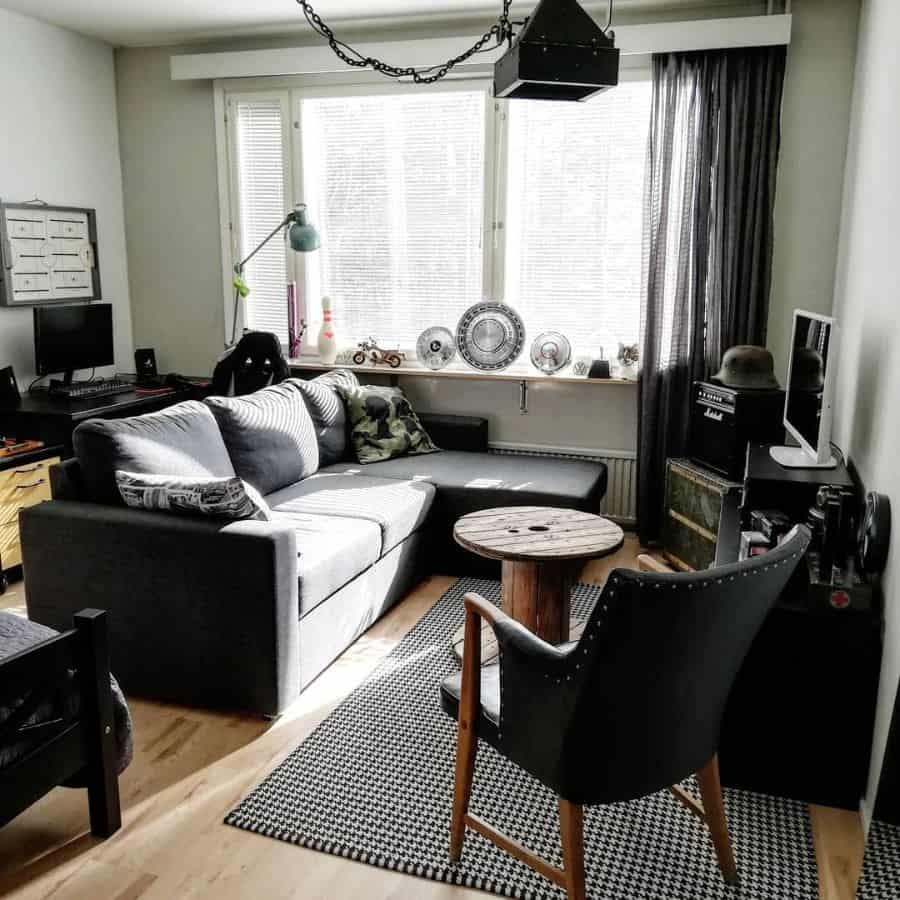 Black Furniture Living Room Color Ideas Rakkauvella
