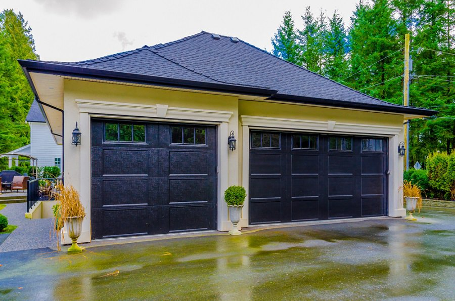 Aluminum Black Modern Garage Door Ideas