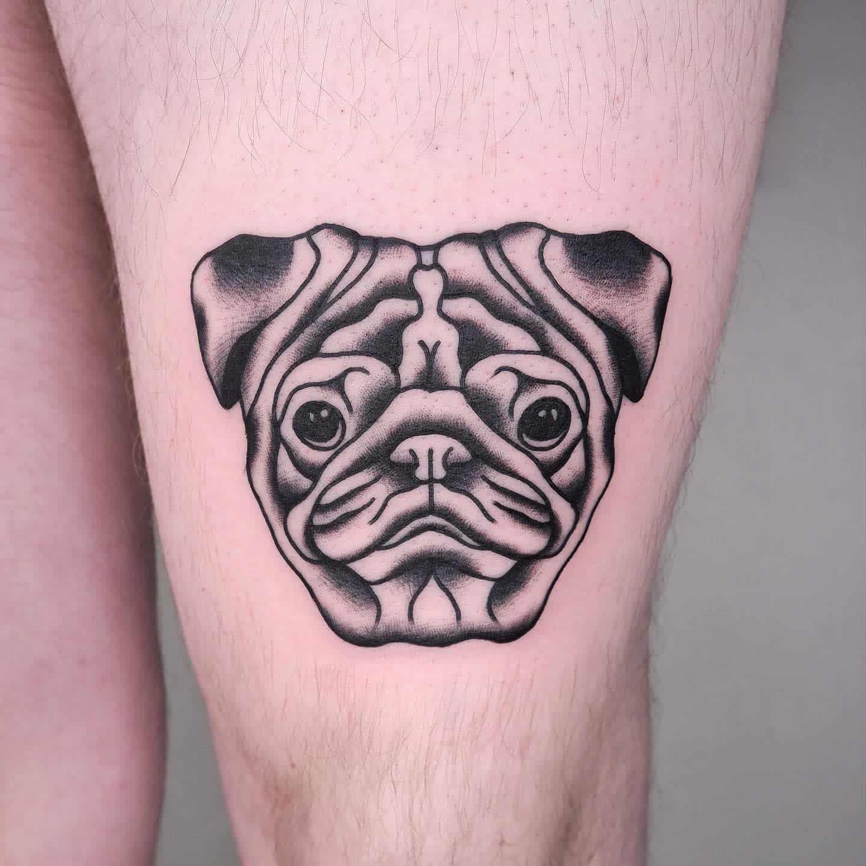 Black Gray Pug Tattoo Gerfer Tattoo