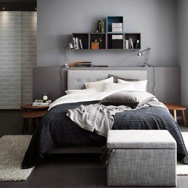 Enhancing Living Quality Small Bedroom Design Ideas: Top 60 Best Grey Bedroom Ideas