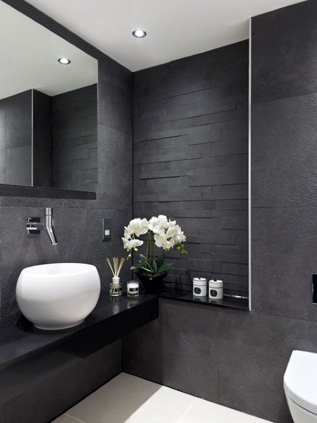 natural stone slate bathroom tile ideas