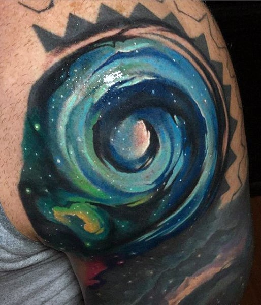 Black Hole Sky Tattoo For Guys On Arm