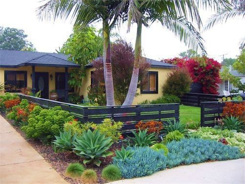 Black Home Ideas Front Yard Fence