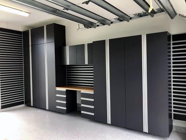 Black Home Interior Designs Garage Cabinet