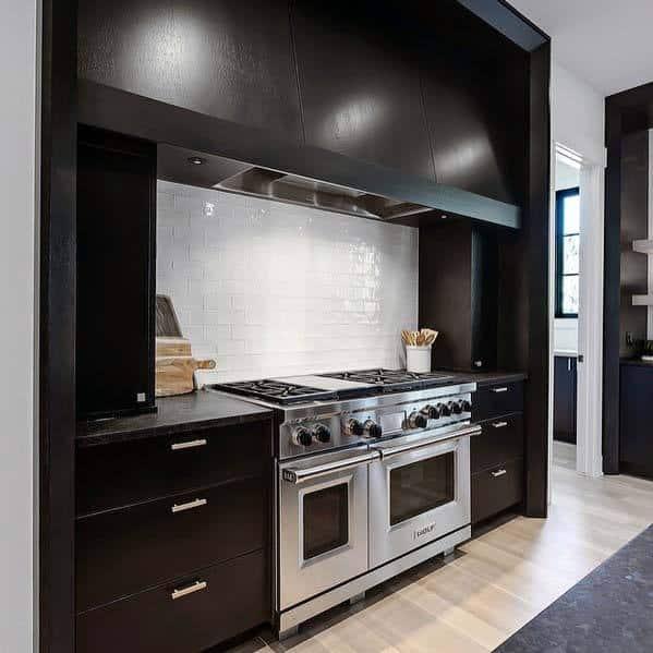 Black Impressive Kitchen Hood Ideas