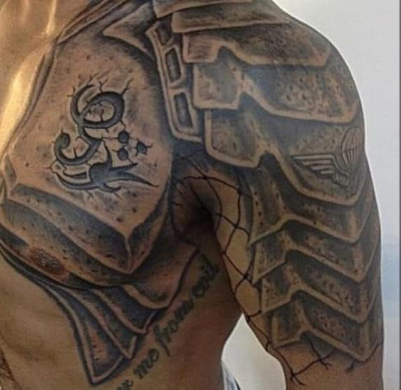 50 Gladiator Tattoo Ideas For Men Amphitheaters And Armor