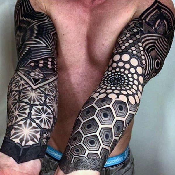60 awesome sleeve tattoos for men masculine design ideas. Black Bedroom Furniture Sets. Home Design Ideas