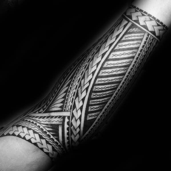40 Polynesian Forearm Tattoo Designs For Men Masculine Tribal