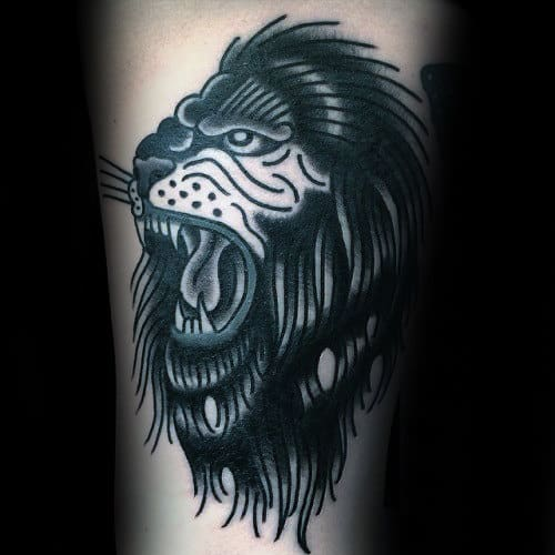 Black Ink Guys Traditional Arm Tattoo Ideas