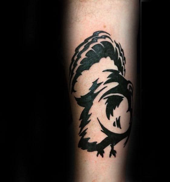 Black Ink Guys Turkey Forearm Tattoo Inspiration