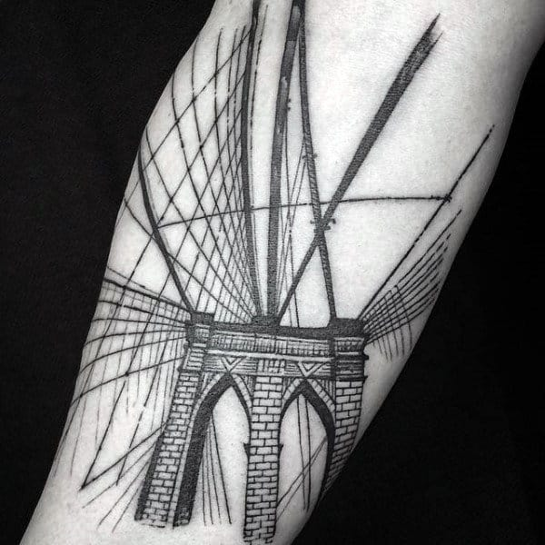 60 brooklyn bridge tattoos for men new york city design for Club ink tattoo brooklyn