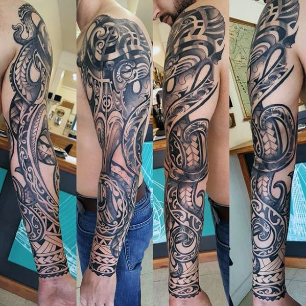 50 Octopus Sleeve Tattoo Designs For Men - Manly Ink Ideas