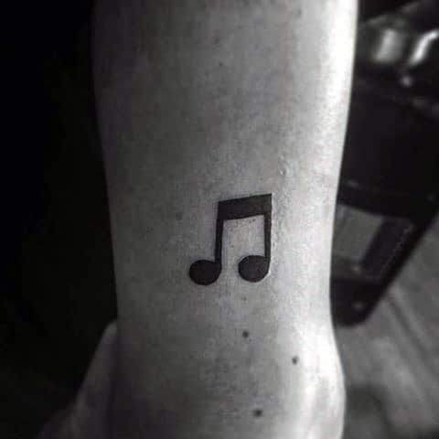 40 simple music tattoos for men musical ink design ideas