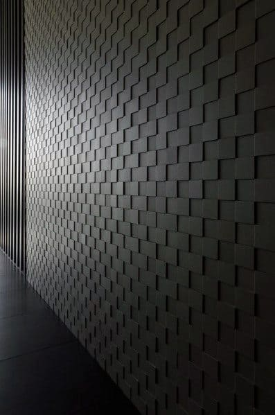 Black Interior Ideas Textured Wall