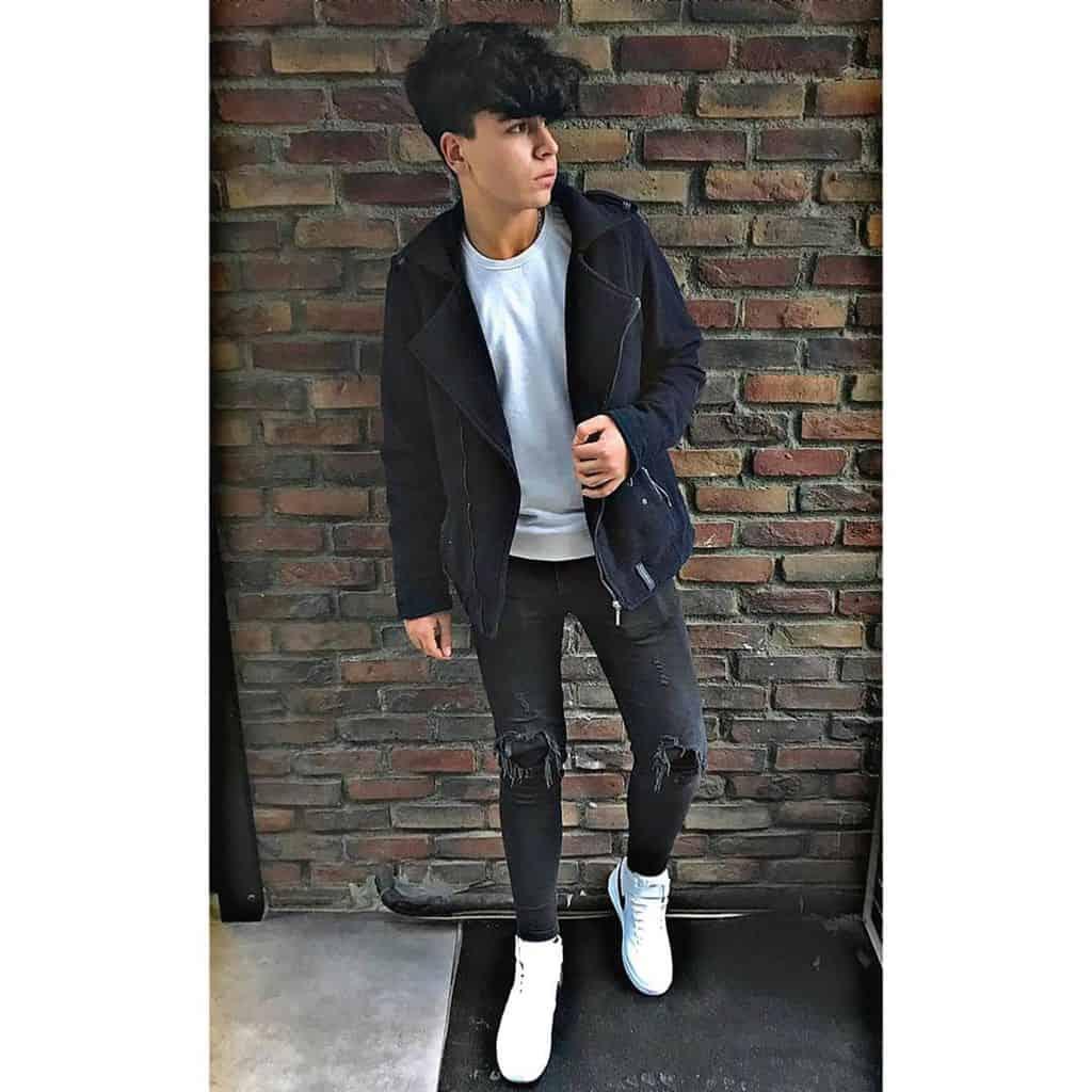 Black Jacket Grunge Outfit