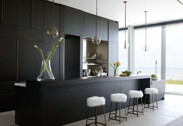 Black Kitchen Cabinet Interior Design Ultra Modern