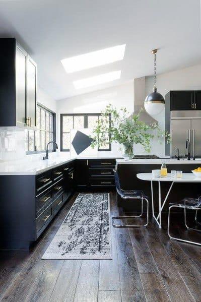 Top 50 Best Black Kitchen Cabinet Ideas Dark Cabinetry Designs
