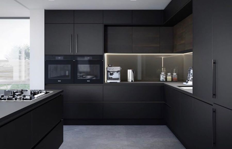 black kitchen countertop ideas iceint1