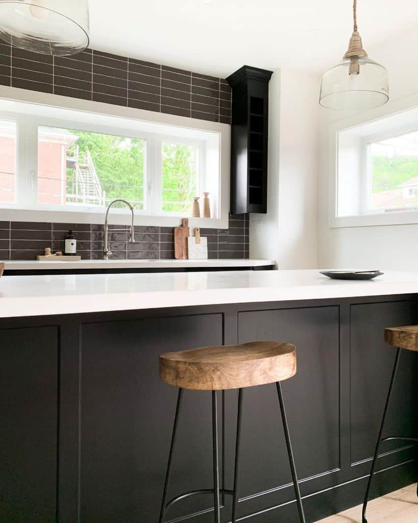 black kitchen tile ideas graceinthehome